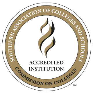 Southern Association of Colleges and Schools Accredited Institution stamp