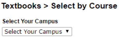 Select the campus where you are taking classes.
