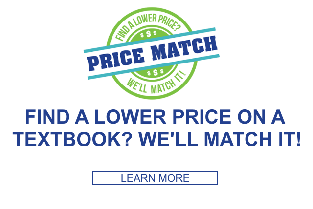 Find a lower price on a textbook? We'll match it!