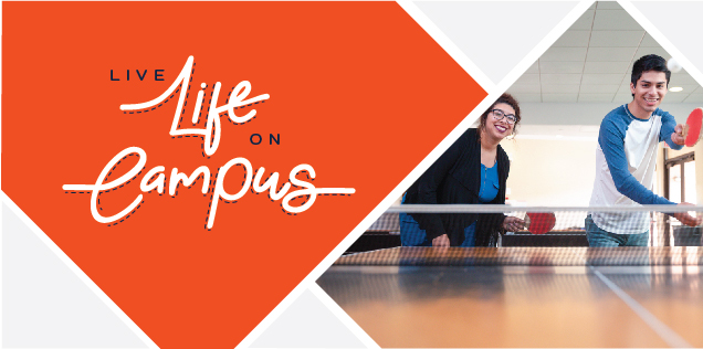 Live Life on Campus, students playing table tennis