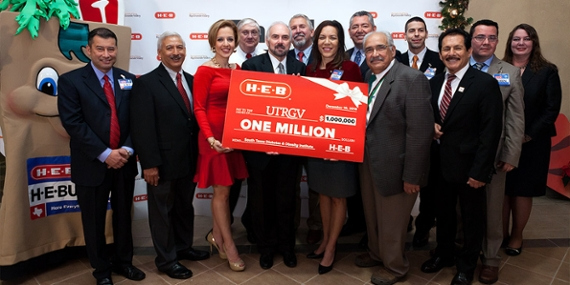 UTRGV | Thanks a million! H-E-B donates $1 million to UTRGV South ...