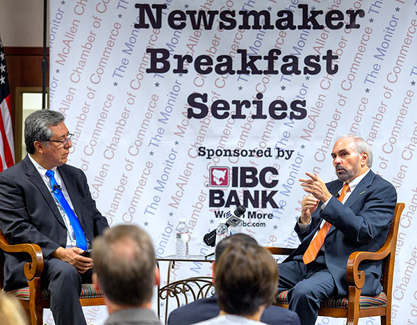 PHOTO 2 - Sanchez and Bailey - Newsmaker Breakfast Series 8-27-15