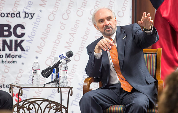 Newsmaker Breakfast Series hosts UTRGV President Guy Bailey