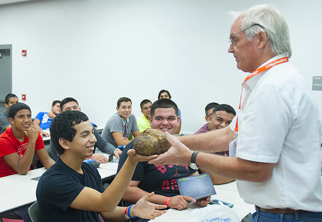 Raymondville High School juniors learned about the science in agriculture during the USDA/Hispanic Serving Institutions National Program breakout session, during HESTEC 2015's Student Leadership Day on Monday, Oct. 6.