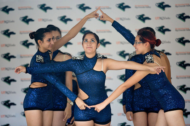 UTRGV students perform the Black Hole Dance.