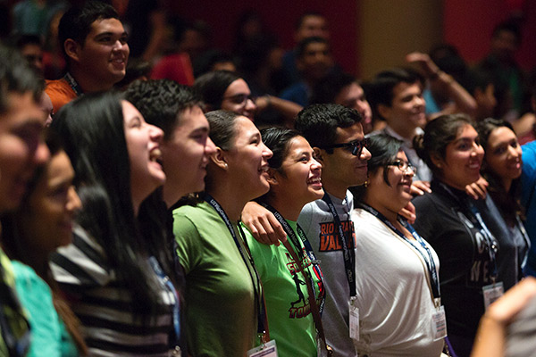 UTRGV Students celebrated the first day of classes on Aug. 31, 2015.