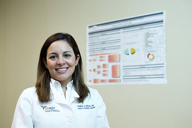 UTRGV School of Medicine third-year resident Dr. Pamela Venegas was one of 35 residents and physicians chosen to present a poster on her research at the WONCA Polaris annual conference in Colorado.