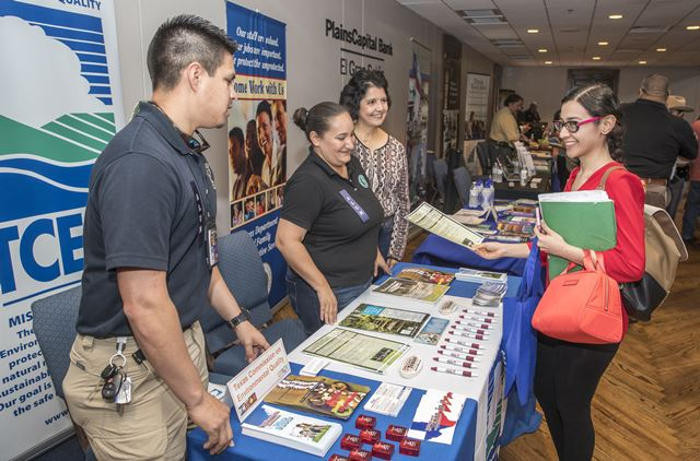 Forty-nine companies sent recruiters to the UTRGV Brownsville Campus on Wednesday, Oct. 5, 2016.