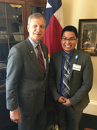 Berrones Soto met with Congressman Brian Babin (R-TX 36th District) in the Cannon House Office Building.