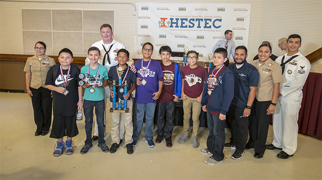 Sixty-five area school teams compete in lively HESTEC 2016 Robotics Day