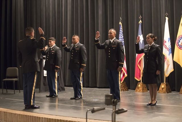 UTRGV ROTC commissions four new US Army second lieutenants