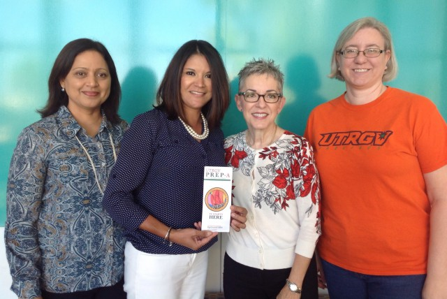 Jayshree Bhat, UTRGV director of Continuing Education; Dr. Criselda Garcia, associate dean for the UTRGV College of Education & P-16 Integration (CEP); Dr. Patricia McHatton, dean of the CEP; and Dr. Janine Schall, CEP associate professor. (Courtesy Photo)