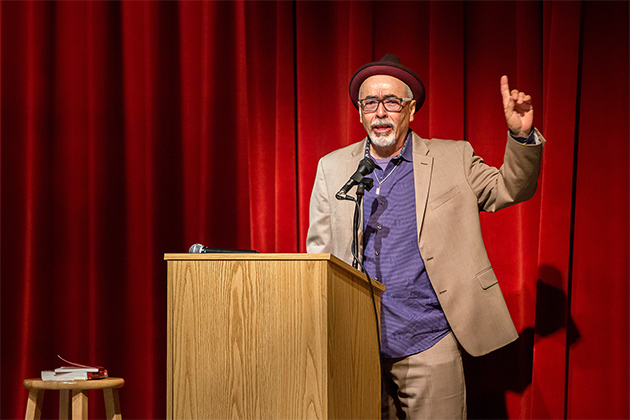 Image of U.S. Poet Laureate Herrera visits UTRGV's FESTIBA, talks borders, challenges and lifting up one's voice