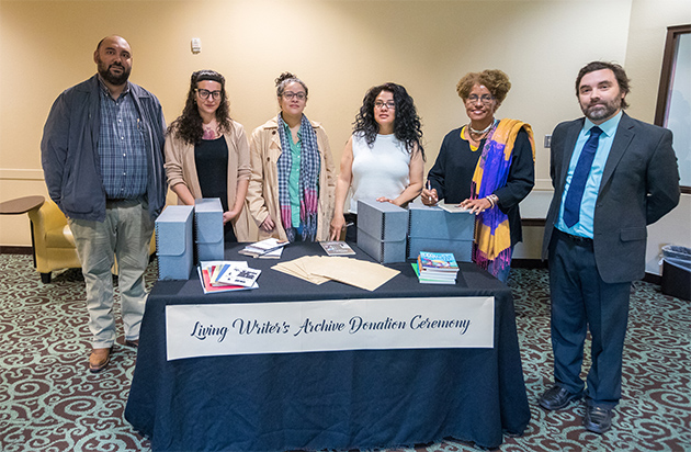Image of Four Latina writers make donations to Special Collections and University Archives