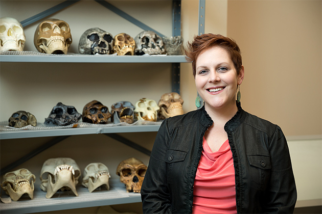 Dr. Sarah M. Rowe, assistant professor in the UTRGV Department of Sociology & Anthropology, has received a Fulbright Scholar Award to continue her research on the ancient Valdivia culture in Ecuador. She will be in the town of Dos Mangas for two months, researching social structures, specifically looking for artifacts that would provide clues about whether Valdivian society adhered to a hierarchical system or if it was more egalitarian. (UTRGV Photo by Paul Chouy)