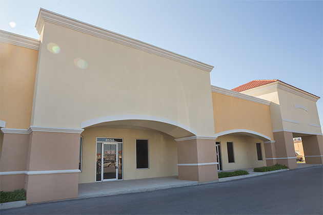 UTRGV has purchased this existing shell building on Crosspoint Boulevard in Edinburg to house the UTRGV School of Medicine Pediatrics Clinic. The sale was finalized in May and project completion is estimated for September 2017. (UTRGV Photo by Paul Chouy)