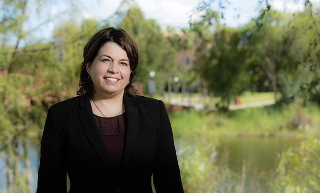 Dr. Gladys Maestre, professor of biomedical sciences at the UTRGV School of Medicine and director of the Memory Disorders Center at UTGRV's Institute for Neurosciences, is conducting research about the high number of Alzheimer's and dementia cases in the Rio Grande Valley's Latino population. (UTRGV Photo by David Pike)