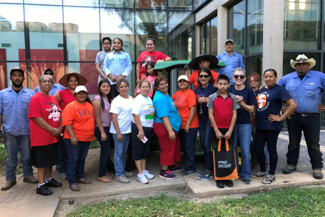 UTRGV faculty and staff and Unidos Por RGV created a community butterfly garden to beautify the atrium in the College of Education and P-16 Integration (CEP) atrium on the Edinburg Campus. (Courtesy Photo)