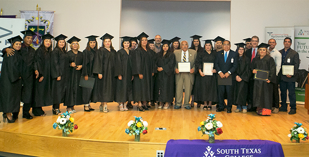 The University of Texas Rio Grande Valley joined South Texas College, Texas A&M University and United Healthcare on Friday, Aug. 18, 2017, to celebrate the graduation of its first cohort of promotores, or community health workers, from the South Texas Community Health Worker Training Network. (STC Photo by Ben Briones)