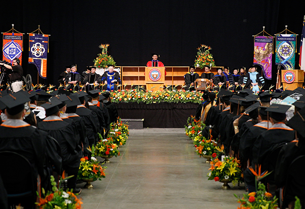 UTRGV celebrated more than 2,400 graduates on Saturday, May 13, in three ceremonies throughout the day at the McAllen Convention Center