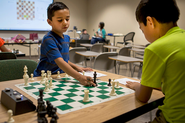 The UTRGV Summer Chess Camp, designed to improve students' chess skills and increase interest in the intellectual sport, provides lessons, practical exercises and exams to track progress and ameliorate their skills for future tournaments and competitions.