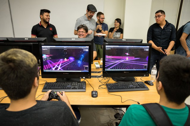 UTRGV students turned out to test and vote for the best of nine video game prototypes