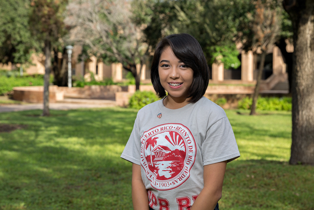 Michelle Hernandez, a UTRGV junior majoring in education, had no idea when she set off on a study abroad trip to Puerto Rico in August that she would be trapped there by not one, but two devastating hurricanes. Irma and Maria left the island, its residents and its wildlife in critical distress, but Hernandez turned adversity into something positive, rescuing 90 exhausted, frightened birds during her time there. (UTRGV Photo by Paul Chouy)