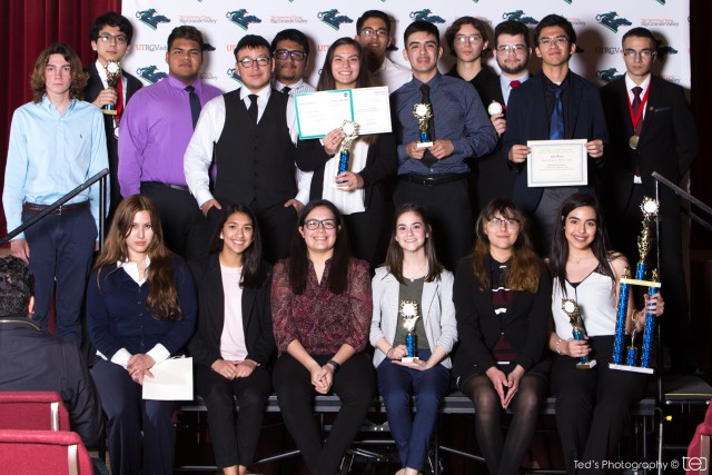 Twenty-one students in the UTRGV Math and Science Academy participated in the RGV Science and Engineering Fair. Nine students will advance to the state regional fair in San Antonio in March and one will go to the Intel International Science & Engineering Fair in Pittsburgh, Pennsylvania, in May.