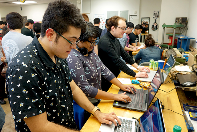 During the recent Game Showcase at UTRGV, students tested out video games co-created by University of Texas Rio Grande Valley computer science and art students as part of their game development courses.