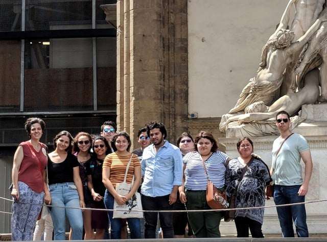 UTRGV students taking study abroad courses in Florence, Italy
