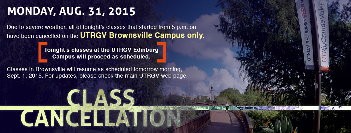 Classes Cancelled for Brownsville campus