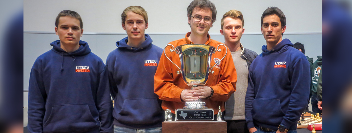 UTRGV chess team cements Texas brags, brings home first-place Super Finals trophy