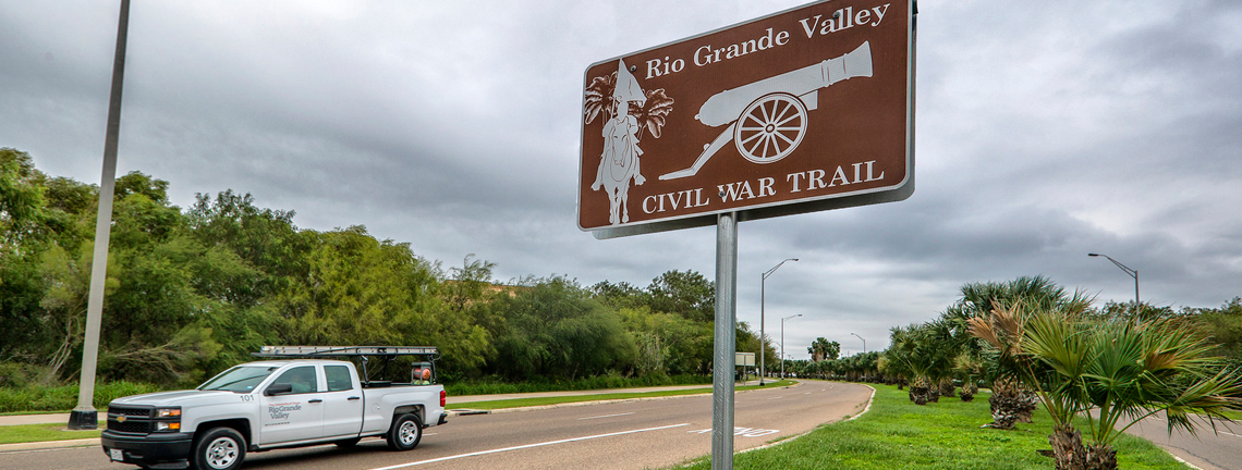 Fourteen New Historical Trail Signs Erected in Brownsville