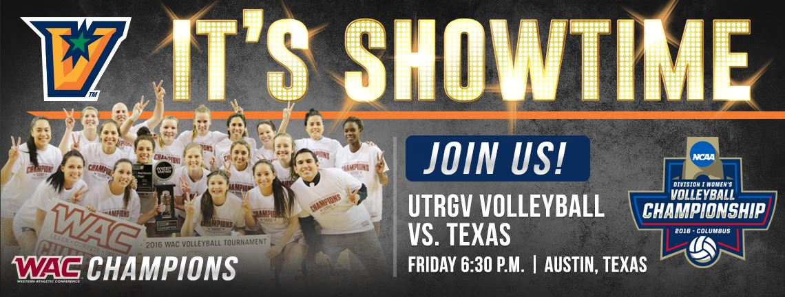 Join UTRGV Volleyball this Friday when they face No. 4 Texas in Austin. RSVP at GoUTRGV.com/NCAA