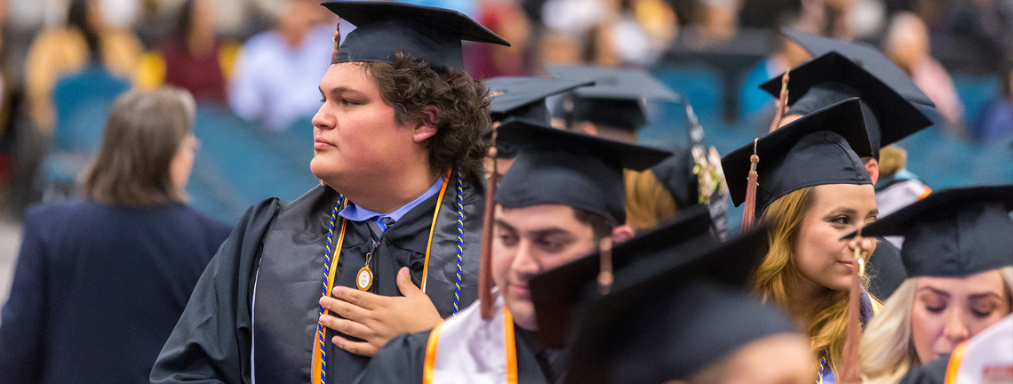 About 2,700 UTRGV students received their diplomas this weekend, as The University of Texas Rio Grande Valley graduated its latest crop of Vaqueros at the Fall 2017 commencement ceremonies. The first of four ceremonies, shown here, was Friday evening at the McAllen Convention Center. (UTRGV Photos by David Pike)