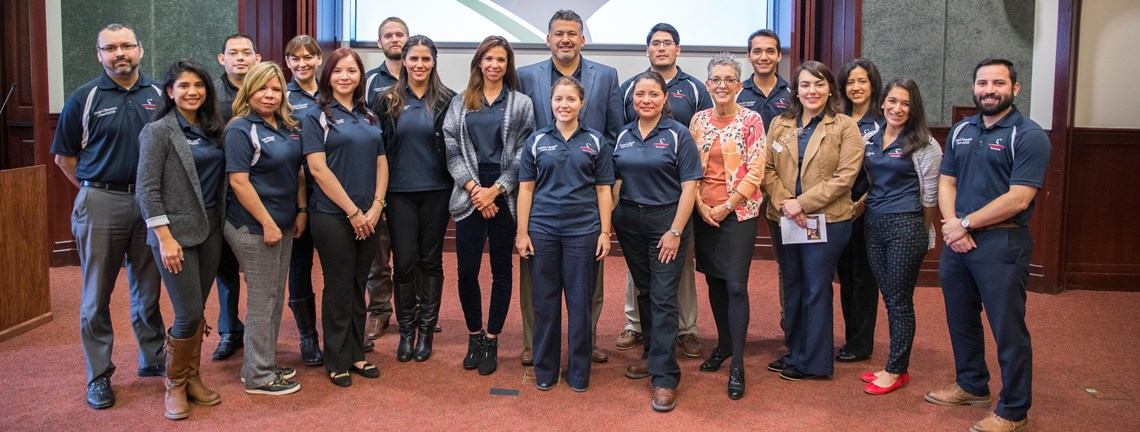 Leadership Brownsville visits UTRGV for virtual teaching demonstration by Dean McHatton