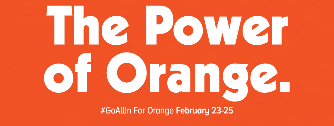 The Power Of Orange Go all in