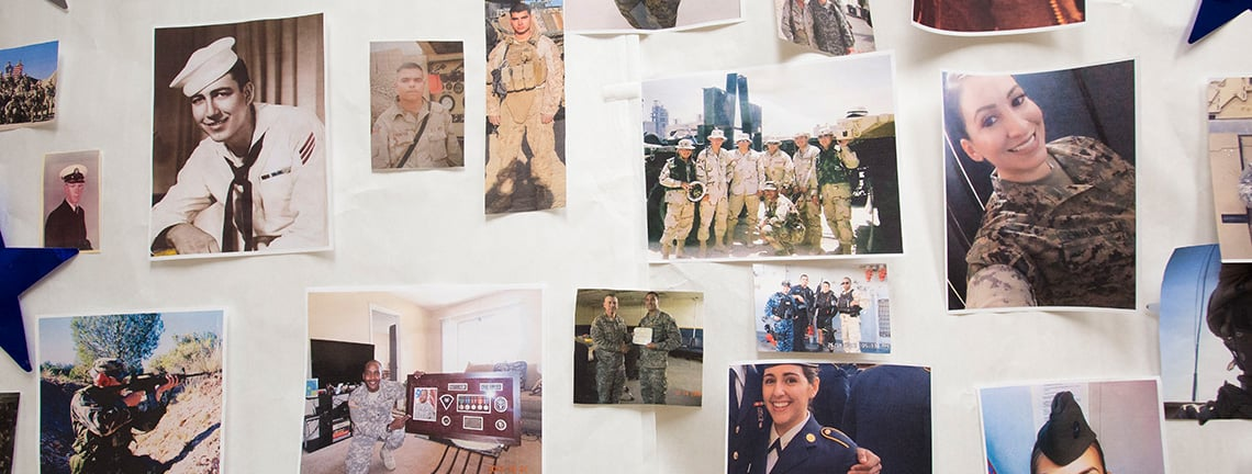 veteran pictures wall