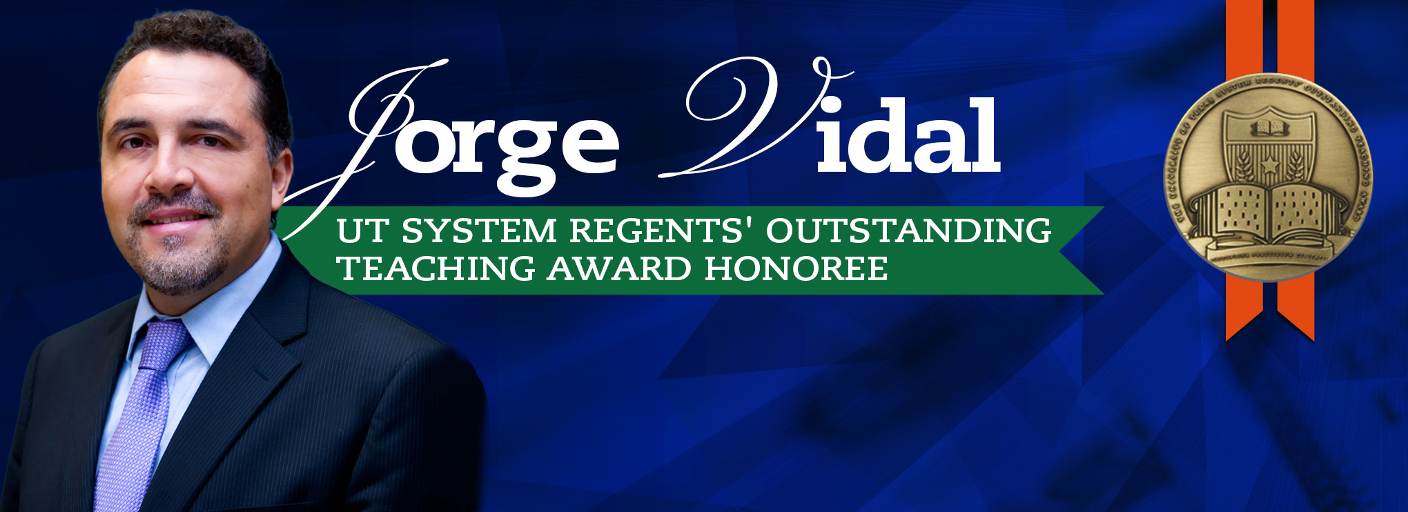 Preparation and passion propels Vidal to receive coveted Regents' Award for teaching