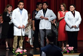 UTRGV Bachelor of Science in Nursing (BSN) students participated in a White Coat Ceremony on Thursday, Sept. 24, 2015, at the Student Union Theater in Edinburg.