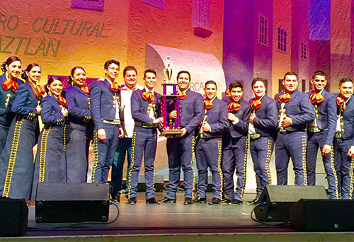 UTRGV Mariachi Juvenile Aztlan took first place in the university level group competition