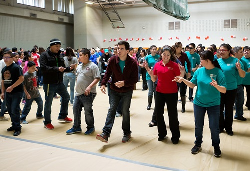 Students took to line dancing during UTRGV's Friendship Dance
