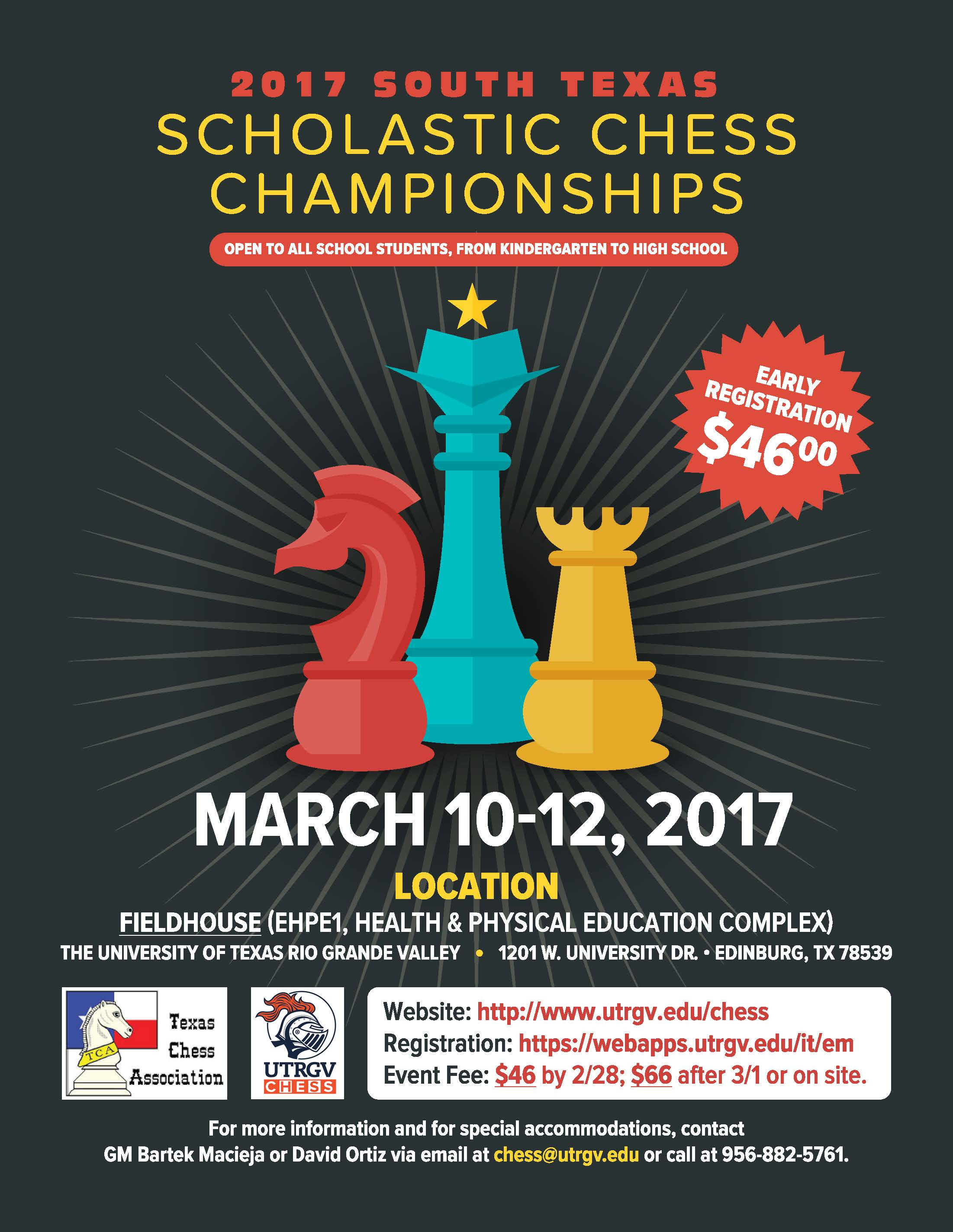 2017 South Texas Scholastic Chess Championships Flyer