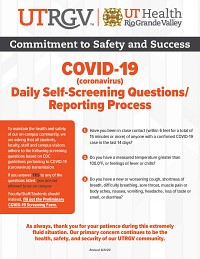 Daily Self-Screening Questions/Reporting Process