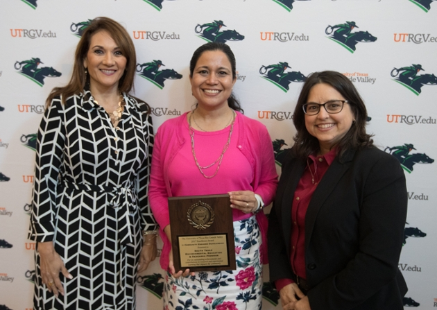 Image of UTRGV faculty expertise recognized at annual excellence awards ceremony