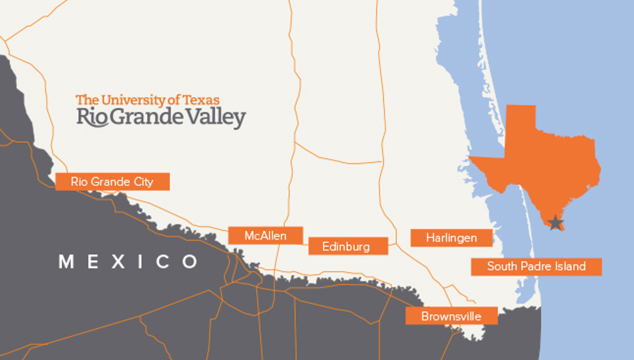 UTRGV About Us - Rio grande on map of us