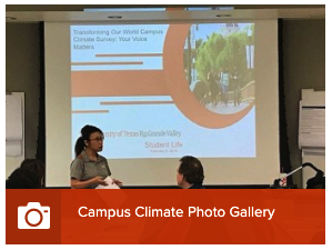 Photo gallery of teams of faculty and staff joining for collaboration on campus climate