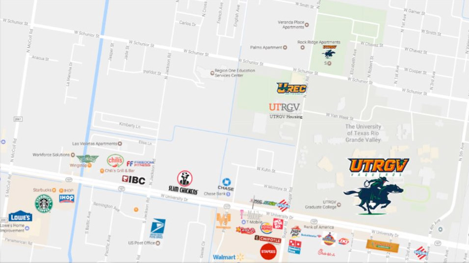 Utrgv Campus Map