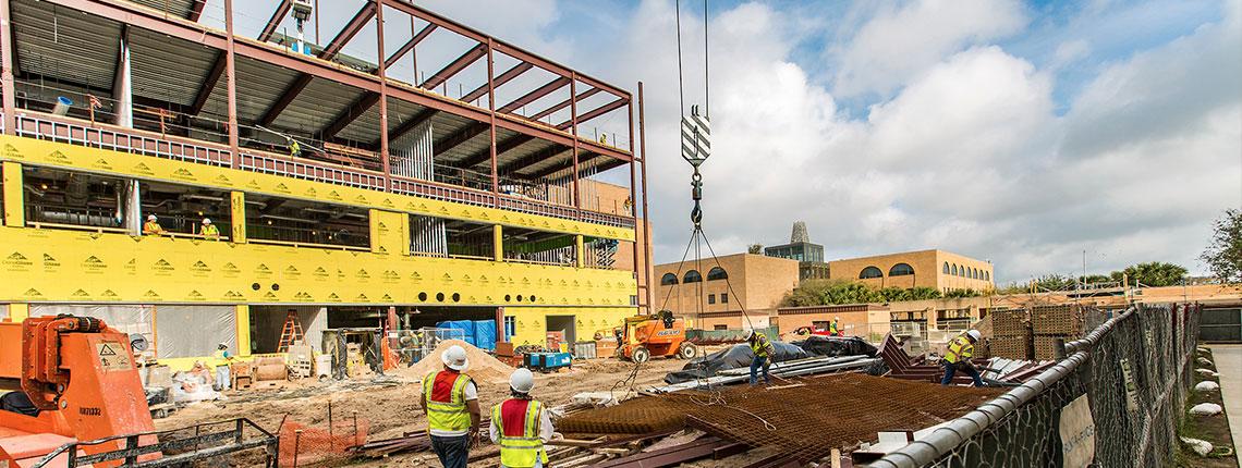 Construction site of the new UTRGV Science Building - Edinburg, TX.